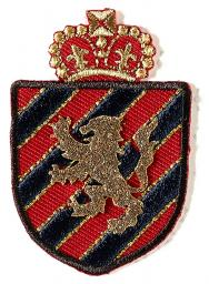 Applikation Wappen blau/rot