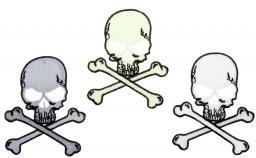 Motif assortment 3x2 to iron on skulls glow in the dark
