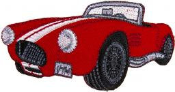 Applikation Roadster Oldtimer rot