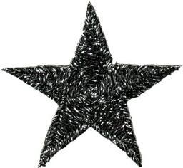 Applikation Stern schwarz glitzernd