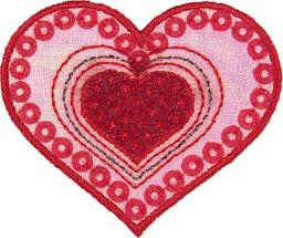 Motif Heart with Sequins
