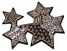 Applikation Sterne silber