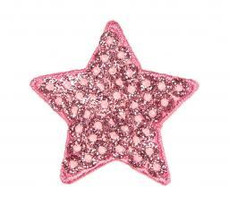 Applikation Stern pink Pailletten