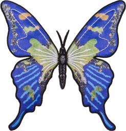 Applikation Schmetterling blau