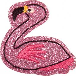 Applikation Flamingo glitzernd