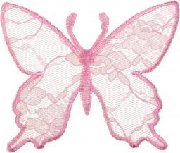 Applikation Schmetterling Spitze rosa