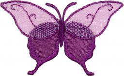 Applikation Schmetterling Tüllspitze lila