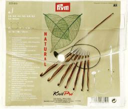 Tunisi.crochet hooks set NATURAL 3,5-8mm