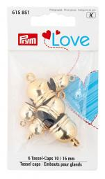 Prym Love Tassel caps 10 + 16 mm goldfarbig