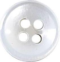 Knopf 4-Loch Hemden/Blusen Perlmutt 10mm