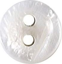 Knopf 2-Loch Hemden/Blusen Perlmutt 10mm