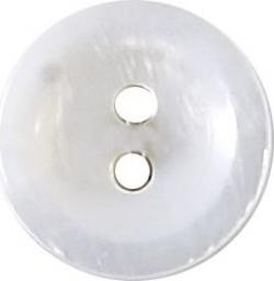 Knopf 2-Loch Hemden/Blusen Perlmutt 12mm