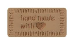Applikation Handmade with Love Beige