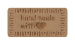 Motif Handmade with love beige