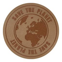 Motif Save the Planet beige