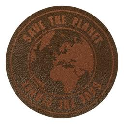 Motif Save the Planet Brown