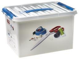 Sewingbox 22 Liter white/blue