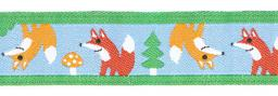 Woven Ribbon 16Mm Foxes