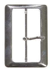 Gürtelschnallen Metall 50mm silberfarbig