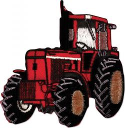 Motif Iron-On Tractor Red