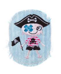 Patch Piratenjunge, Jeans mit Fransen