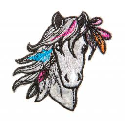motif pony head grey