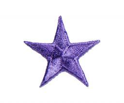 Applikation Stern lila