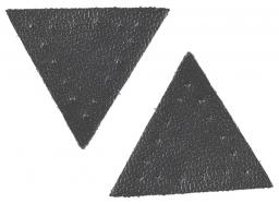 Applikation Dreieck Lederimitat grau