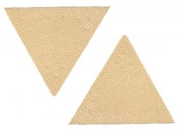 Applikation Dreieck Lederimitat beige