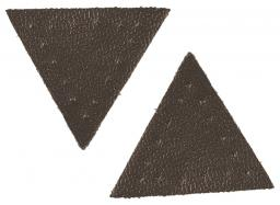 Motif triangle brown