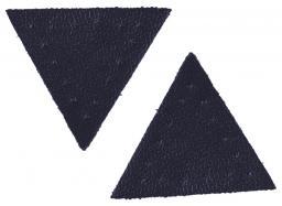 Applikation Dreieck Lederimitat dkl.blau