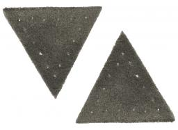 Motif triangle buckskin imitation grey