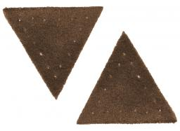 Motif triangle buckskin imitation brown