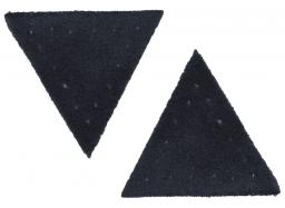 Motif triangle buckskin imitation blue