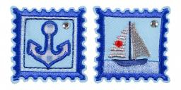 Applikation Sort.2x3 Briefmarke Maritim
