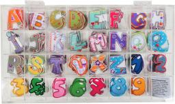 Applikation Sortiment Bunt Buchstaben/Zahlen