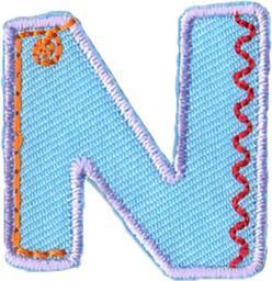 Motif Letter N