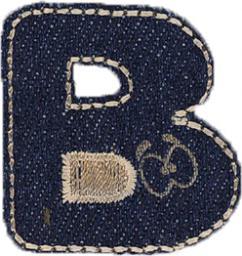 Motif Jeans Letter B