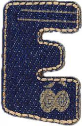 Motif Jeans Letter E