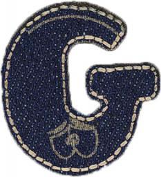 Motif Jeans Letter G