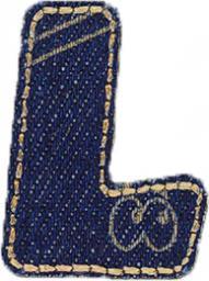 Motif Jeans Letter L
