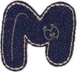 Motif Jeans Letter M