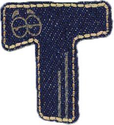 Motif Jeans Letter T