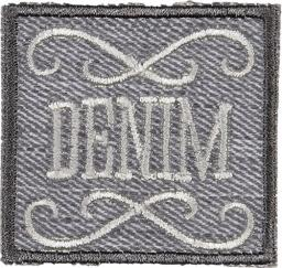 Applikation Denim hellgrau