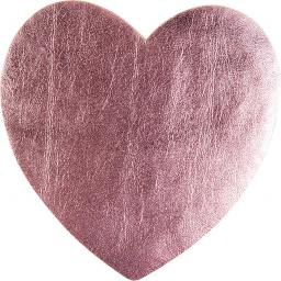 Application heart pink metallic