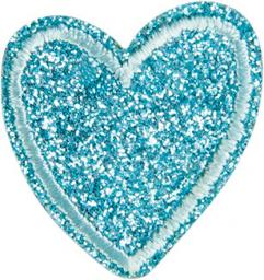 Application heart glitter blue