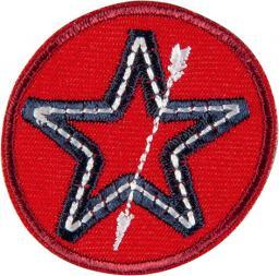 Applikation Stern mit Pfeil rot