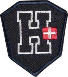 Applikation H Wappen blau