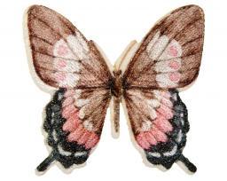 Applikation Schmetterling rosa