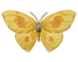 Applikation Schmetterling Gelb